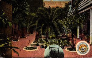 Louisiana New Orleans Old Creole Courtyard In French Quarter 1913