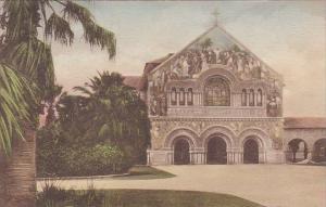 Memorial Church Stanford University Palo Alto California Handcolored Albertype