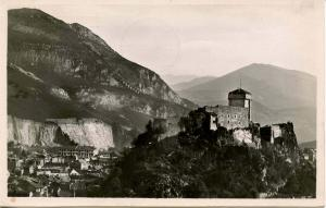 France - Lourdes. The Castle Fort and View  *RPPC