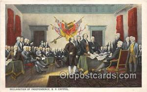 Declaration of Independence US Capitol Patriotic Postcard Post Card US Capito...