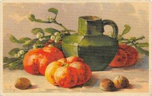 LP99  Catherine Klein Fruit Nuts Signed Artist  Vintage Postcard