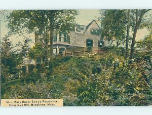 Unused Divided-Back HISTORIC HOME Brookline - Boston Massachusetts MA W4335