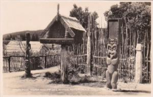 New Zealand Rotorua Whaka Maori Food House and Images Real Photo