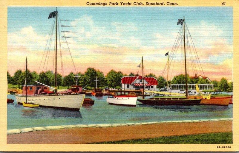 Connecticut Stamford Cummings Park Yacht Club 1943 Curteich
