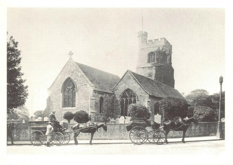 Repro c1900 Postcard, St. Clement's Church, Leigh On Sea, Essex 75T