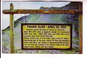 Frank Slide, Alberta, Bryon Harmon Photos, Creston BC Cancel