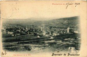 CPA Franche-Comté Doubs Pontarlier Panorama (982131)