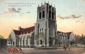 11627  MI Kansas City 1908  First Congregational Church, Admiral Blvd. and Hi...