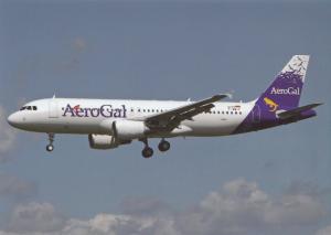 AEROGAL, Airbus 320-214, at Toulouse, unused Postcard