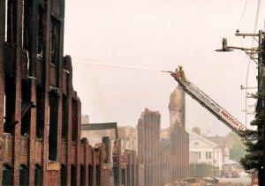 CT - Stonington. Mill Fire in July, 2003