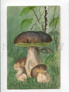 285914 KEIZER Artist Signed MUSHROOM Water Color HAND PAINTED