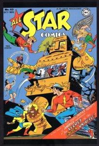 All Star Comics DC The Secret Of The Golden Universe Comic Book Postcard