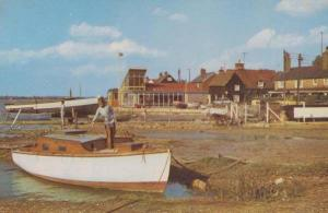 Lady Boat Lover West Mersea Essex 1970s Postcard