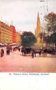 Princess Street Edinburgh Scotland, UK 1909