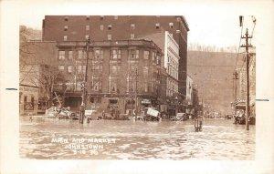 LPS58 Johnstown Pennsylvania 1936 Flood RPPC Main and Market Streets
