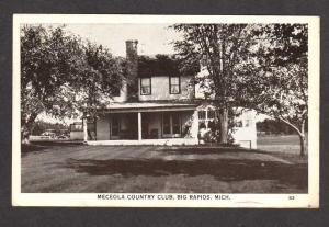 MI Meceola Country Club BIG RAPIDS MICHIGAN Postcard PC Carte Postale