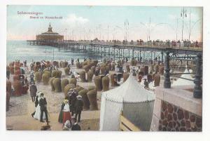 Netherlands Holland Scheveningen Strand Wandelhoofd Beach c 1910 Postcard