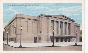 Colorado Colorado Springs City Auditorium