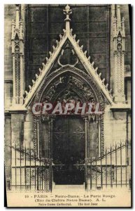Old Postcard Paris Notre Dame La Porte Rouge Street cloister of Notre Dame
