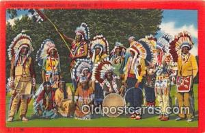 Indians in Ceremonial Dress Long Island, NY, USA Postcard Post Cards Long Isl...
