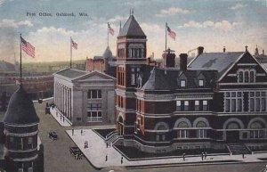 Wisconsin Oshkosh Post Office 1917