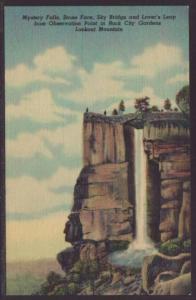 Mystery Falls,Lookout Mountain,TN Postcard