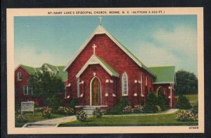 North Carolina postcard  St Luke's Episcopal Church, Boone, N.C. unused