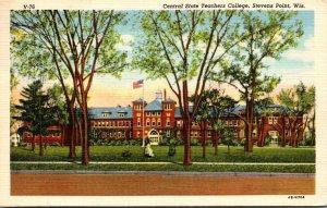 Wisconsin Stevens Point Central State Teachers College 1946 Curteich