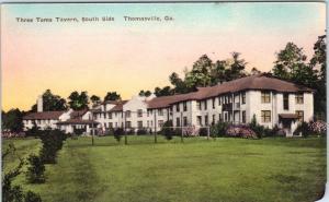 THOMASVILLE, GA Georgia    THREE TOMS TAVERN    c1920s  Handcolored  Postcard