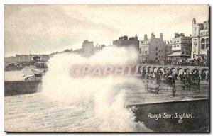 Great Britain Great Britain Brighthon Old Postcard Rough sea
