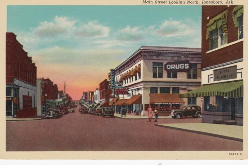 JONESBORO , Arkansas, 1930s , Main Street Looking North