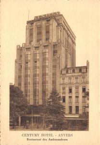 Vintage c1920s Anvers Antwerp Belgium Postcard Century Hotel R92