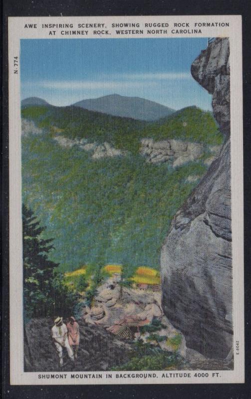 North Carolina colour PC Inspiring Scenery Chimney Rock unused