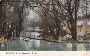 New York Syracuse Scene Along Onondaga Creek