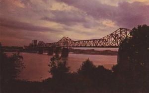 Sunset at George Rogers Clark Bridge - Louisville KY, Kentucky