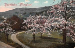 Froehliche Pfingsten Tree Flowers Made in Austria