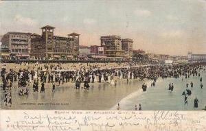 New Jersey Atlantic City Beach View At Atlantic City 1906