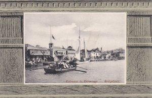 Loaded barge at Entrance to Careenage-Bridgetown, BARBADOS, 1900-10s ;