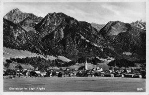 Oberstdorf im Bayr Allgau Village Church Mountain Panorama Postcard