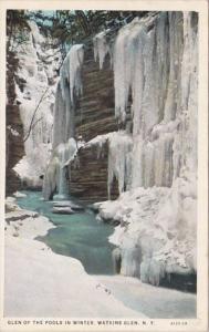 New York Watkins Glen Glen Of The Pools In Winter Curteich