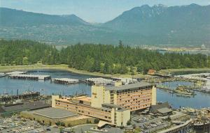 Aerial View of The Bayshore Inn, Overlooks Stanley Park and Harbour, West Van...
