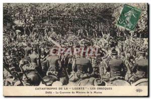 Old Postcard Death la Liberte The Catastrophe funerals Defile The Navy Minist...