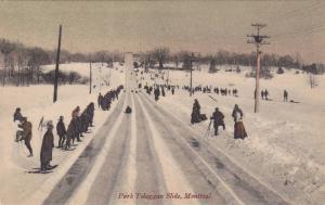 Park Toboggan Slide, Montreal, Quebec, Canada, PU-1906