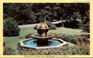 South Carolina Spartanburg Cleveland Park Fountain Dexter Press