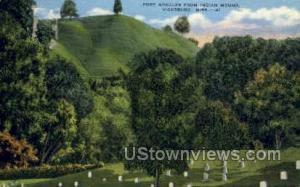 Fort Nogales From Indian Mound  Vicksburg MS Unused