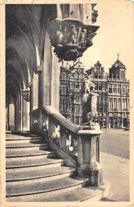 Belgium Bruxelles Hotel de Ville L'Escalier des Lions Town Hall