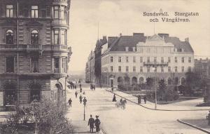 SUNDSVALL, Sweden , 00-10s; Storgatan och Vangafvan