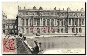 Old Postcard Versailles Chateau Facade On The Park