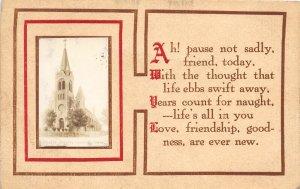 F97/ Greeley Nebraska RPPC Postcard Catholic Church c1910 1