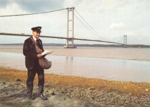 Royal Mail Postcard, The Humber Bridge, Postman, Humberside 58S